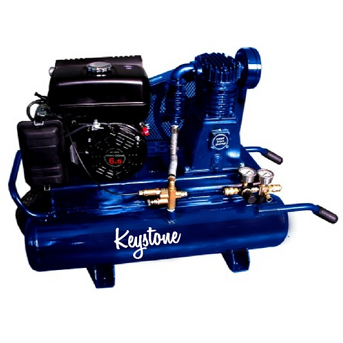 5.5hp Industrial 11 gallon twin tank air compressor