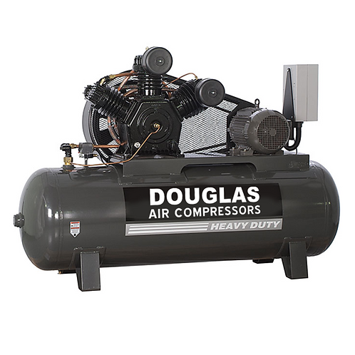 15hp HEAVY DUTY INDUSTRIAL DOUGLAS AIR COMPRESSOR 15 hp - two stage 120 gallons