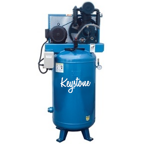 Industrial Cast-Iron 2 Stage 80 Gallon Air Compressor