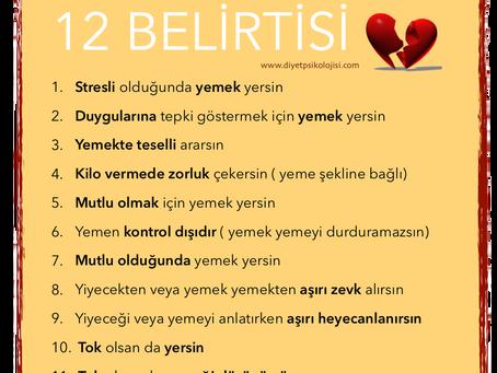Duygusal Beslenmenin 12 Belirtisi