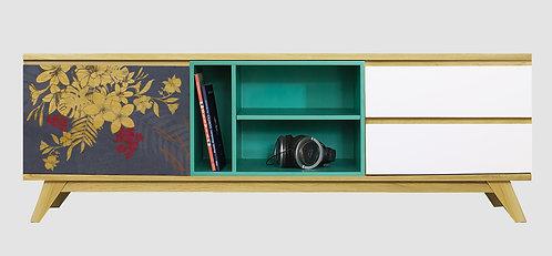 Mueble de TV Flores Azules