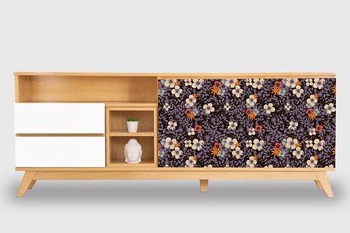 Nueva XL Floes Violetas por María Elina Méndez