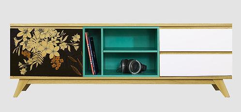 Mueble de TV Flores Negras