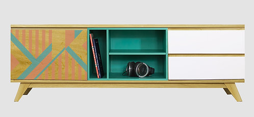 Mueble de TV Barras Naranja