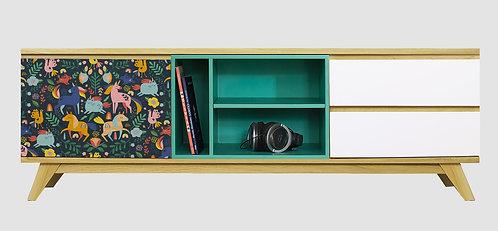 Mueble de TV Unicornios por Ana Sanfelippo