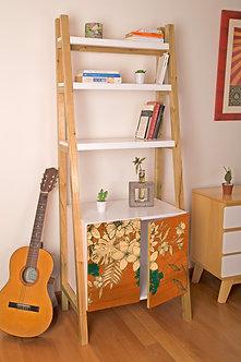 Biblioteca Flores Naranja