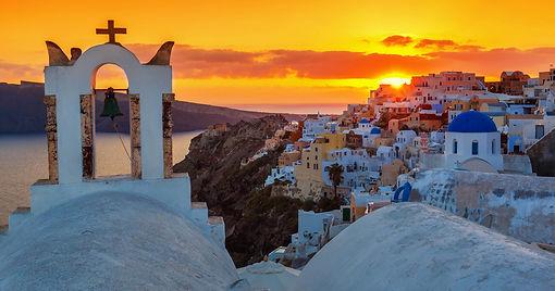 ギリシャ旅行サントリーニ島イアの夕日ウエディング.jpg