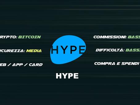 HYPE - Compra e Spendi crypto nei negozi