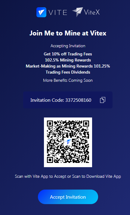 Vite token referrals mining