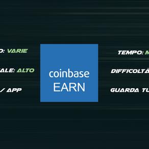 CoinBase Earn - Guadagna guardando i Tutorial