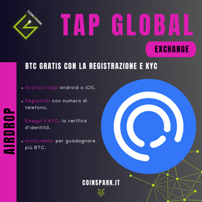 TAP - 3€ in BTC Gratis