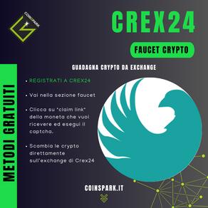 Crex24 Exchange - Faucet Crypto Gratis