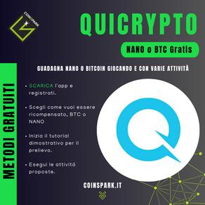 Quicrypto - NANO o BTC Gratis