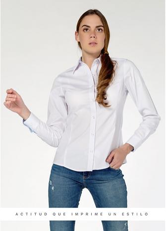 BLUSA PARA DAMA @uniformesexpressmty, blusa para oficina, cams de vetir con bordado de logotipo.