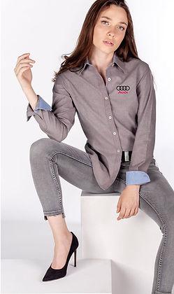 BLUSA DE MUJER, camisas y blusas con bordad de logotipo