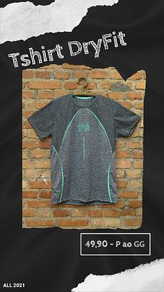 Tshirt dryfit cinza mescla