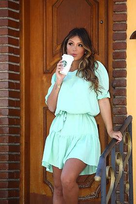 Vestido comfy verde claro