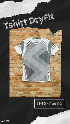 Tshirt dryfit branca geométrica