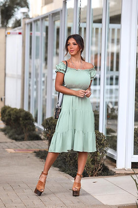 Vestido Midi - verde