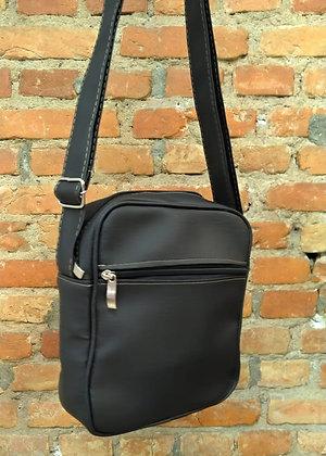 Shoulder bag couro preto 2 - P