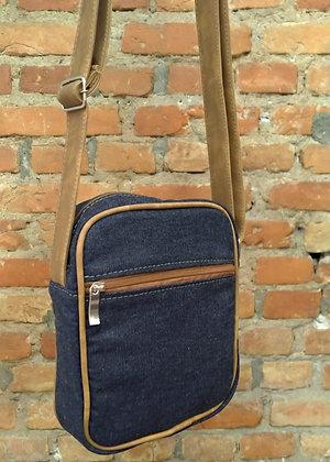 Shoulder bag dark blue denim - P