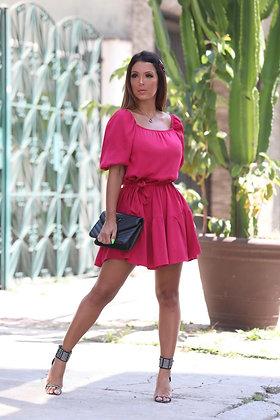 Vestido curto -cereja