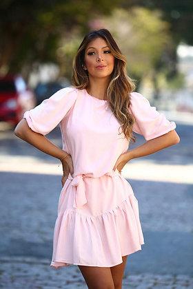 Vestido comfy rosa claro