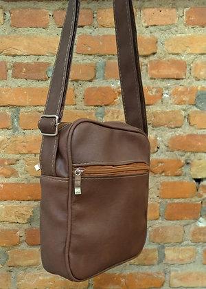 Shoulder bag marrom claro couro - P