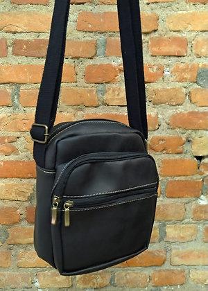 Shoulder bag couro preto - P
