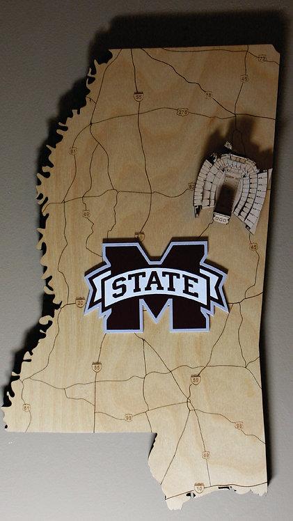Mississippi State Football Stadium Map