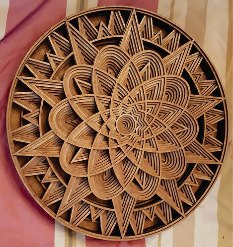 """3D Layered Wall Plaque """"Starburst"""""""