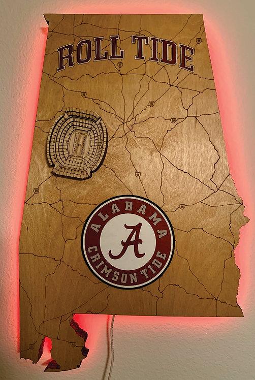 Alabama Football Stadium Map