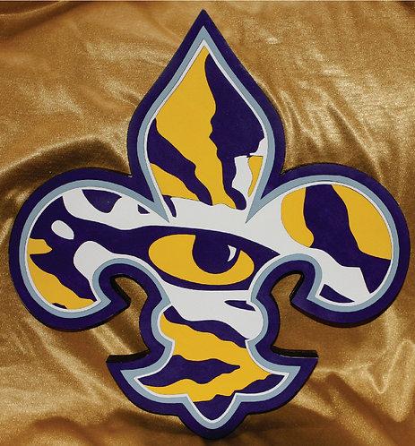 LSU Fleur de Lis Eye of the Tiger Logo