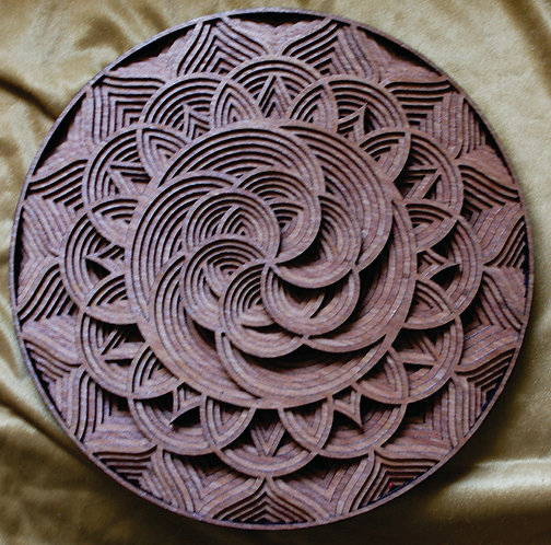 "3D Layered Wall Plaque ""Swirl"""