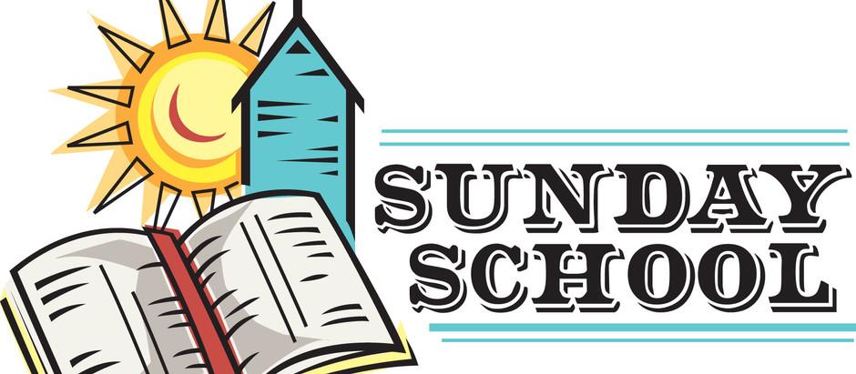 Sunday School starts on 23rd June