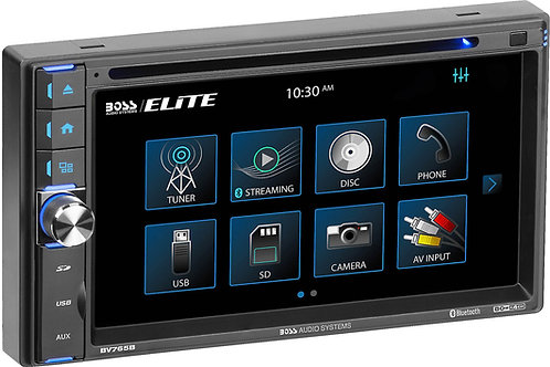 "BV765B Double-DIN, DVD Player 6.5"" Touchscreen Bluetooth"