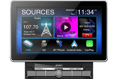 CAR1000 Multimedia Reciever with CarPlay and Android Auto