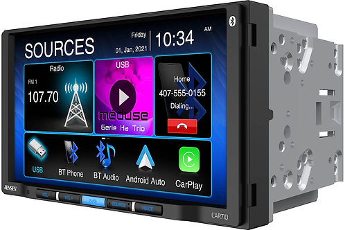 """CAR710 7"""" Multimedia Reciever with CarPlay and Android Auto"""