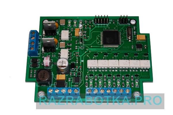 Разработка электронных систем и приборов, Модуль управления охранно-пожарной системы сигнализации, фото печатной платы