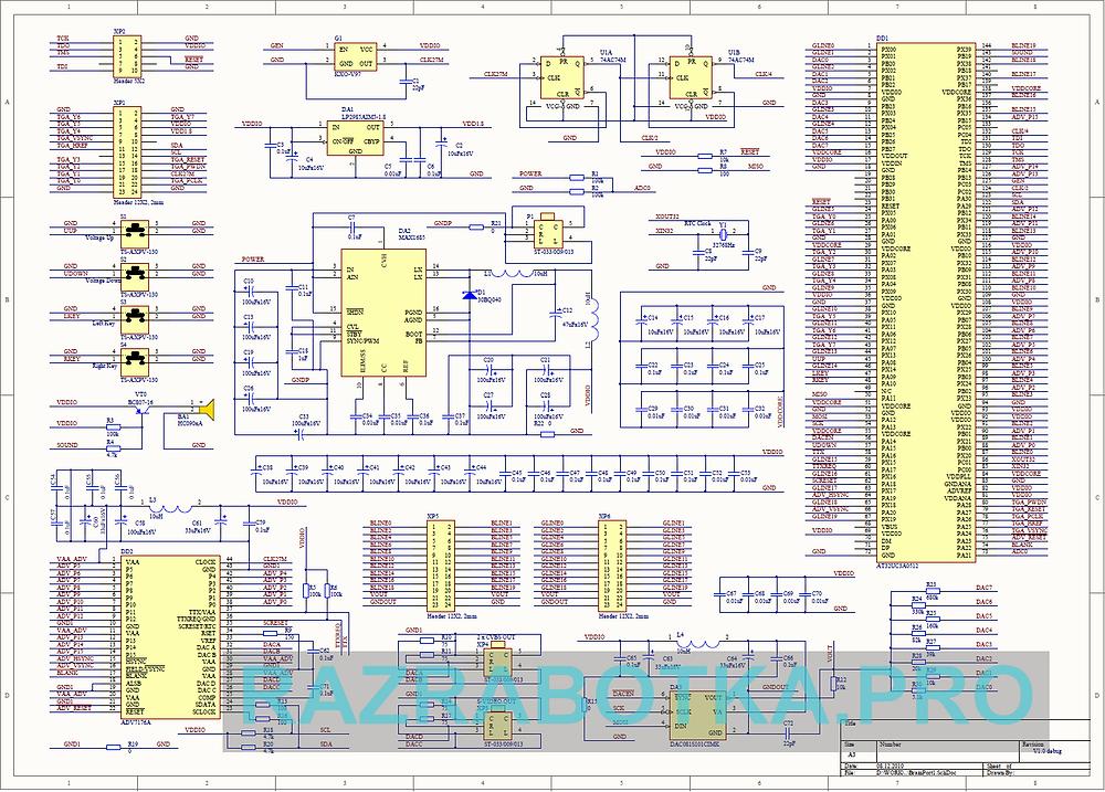 Разработка электроники - разработка и производство электронных устройств для инвалидов по зрению, принципиальная схема прибора «Электронное зрение» (Brainport)