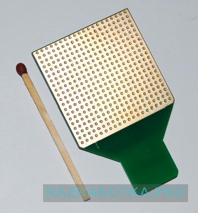 Разработка электроники на заказ для инвалидов по зрению, внешний вид электронной матрицы для передачи изображения на язык (со стороны электродов)