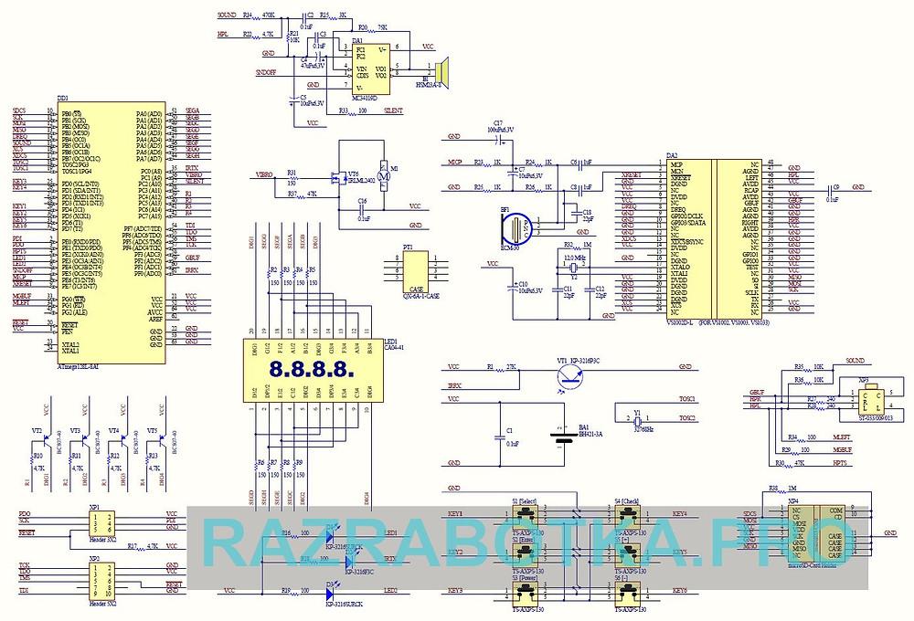 Разработка устройств электронной техники, Принципиальная схема электронного прибора DreamStalker Pro