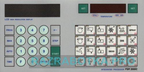 Разработка электронных устройств на заказ, Система автоматизации технологического оборудования химической чистки одежды, Внешний вид клавиатуры устройства