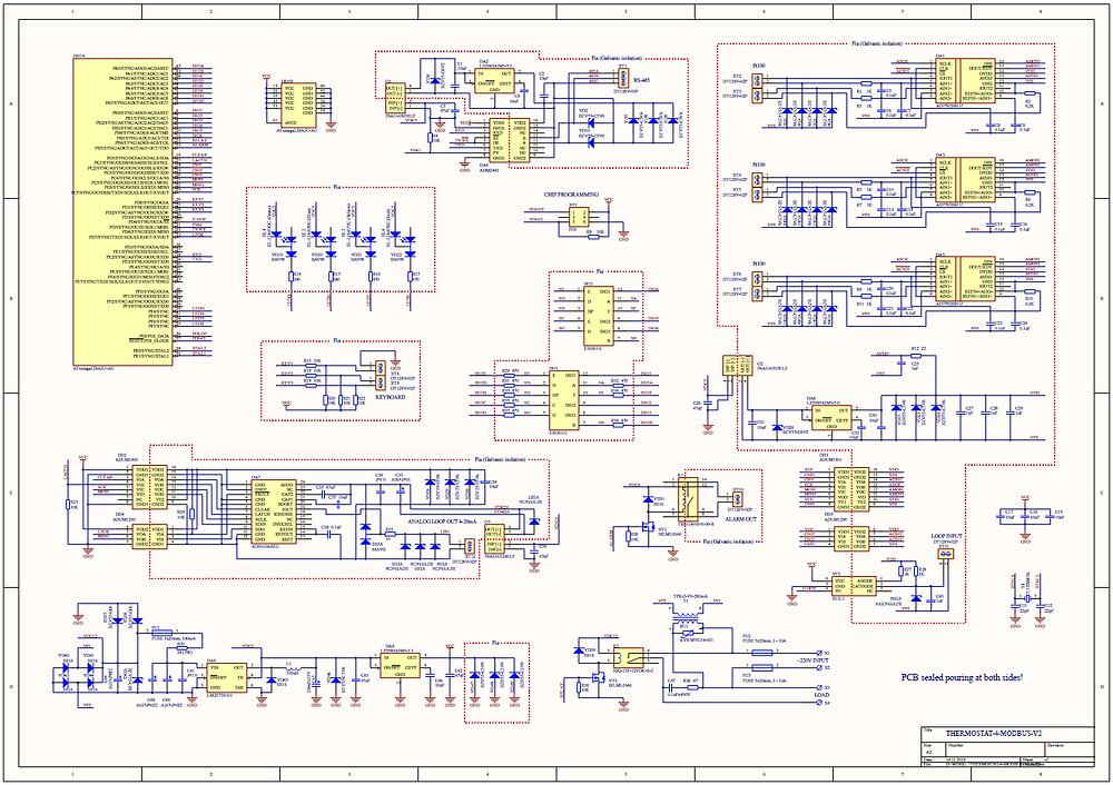 Разработка и производство электроники, принципиальная схема терморегулятора с дистанционным управлением