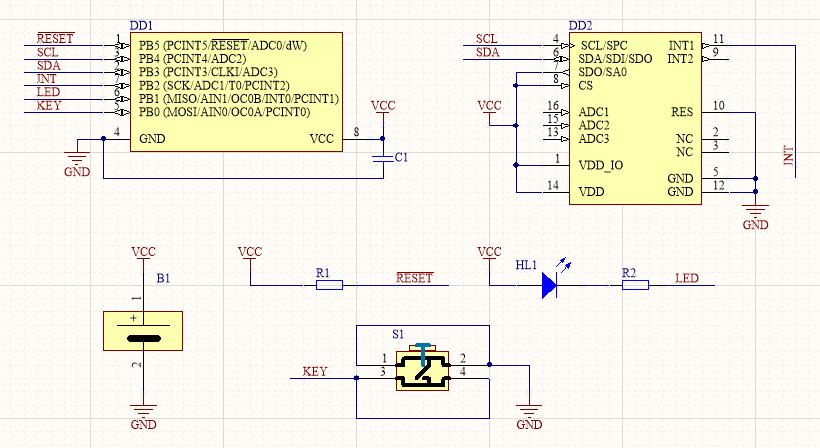 Разработка электроники и производство электронных устройств, принципиальная схема прибора DreamTrainer для контроля осознанности