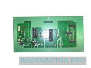 Проектная документация производства электроники, Игровой автомат «Столб» с независимой системой игровых каналов, Плата игрового канала (вид с обратной стороны)