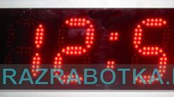 Электронные часы для улицы с метеостанцией и дистанционным управлением от пульта