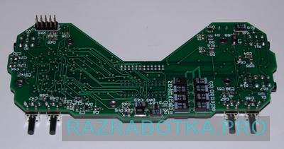 Разработка электроники и производство электронных устройств для инвалидов по зрению, внешний вид основной электронной платы устройства, фото 4 - нижняя сторона печатной платы со стороны кнопок