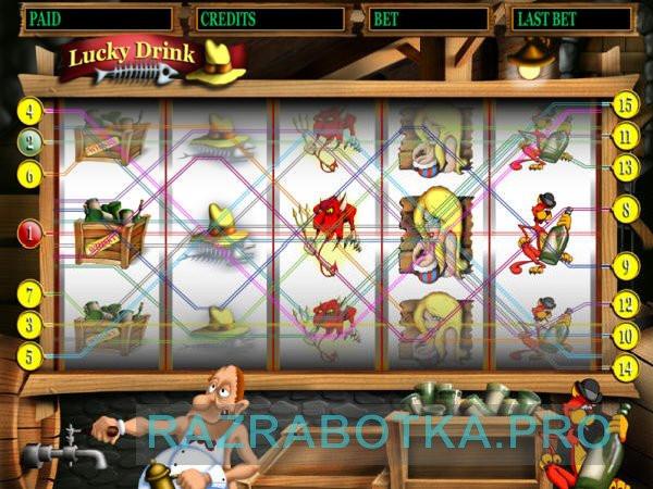 Разработка электронных устройств, Игровой автомат с возможностью замены игр и встроенной защитой, Скриншот игры Lucky Drink