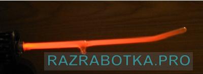 Разработка электронного оборудования для дарсонвализации, свечение газоразрядной трубки прибора «Дарсонваль»